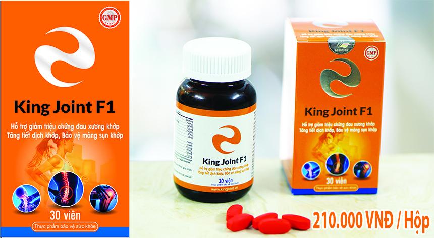 King Joint F1 với Glucosamine hàm lượng cao - Thần dược hỗ trợ xương khớp